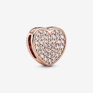 Pandora Pavé Heart Clip Charm